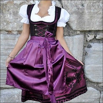 043 Dirndl Oktoberfest German Austrian Dress Sizes 6 8 10 12 14 16 18 20 22   eBay. MOre dirndl's for $40. They have green, gold, blue and lilac. another great option for the puppets. Or maybe even the Von Traps for the concert scene. @Joy Zimansky - if I get these dresses in green for the Von trapps, could you use the red Dutch print skirt with the barmaid corset on a puppet?