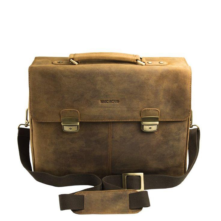 Marc Picard handgearbeitete Aktentasche Laptop bis 15,6 Zoll, Business Tasche, für Universität und Beruf, Herrentasche Umhängetasche, DIN-A4 Laptoptasche, Notebooktasche 42x33x16 (Hellbraun TAN): Amazon.de: Koffer, Rucksäcke & Taschen