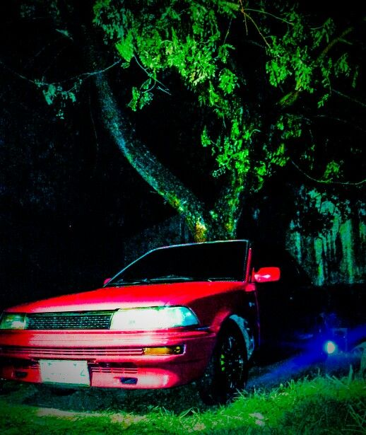 Pictorial of my car 1990's small body Toyota Corolla