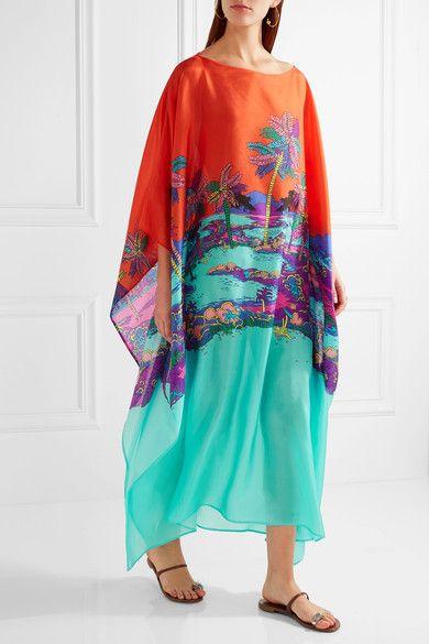 Emilio Pucci | Printed silk kaftan | NET-A-PORTER.COM
