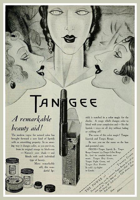 Vintage Advert for Tangee Lipstick and Rouge - Photoplay Apr 1928   por CharmaineZoe's Marvelous Melange
