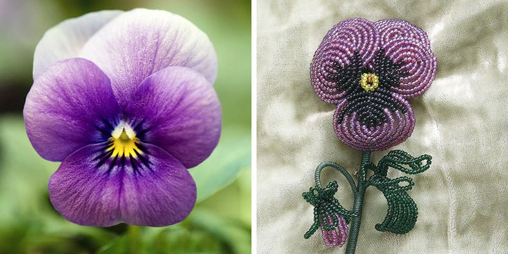 how to make beaded flowers with wire