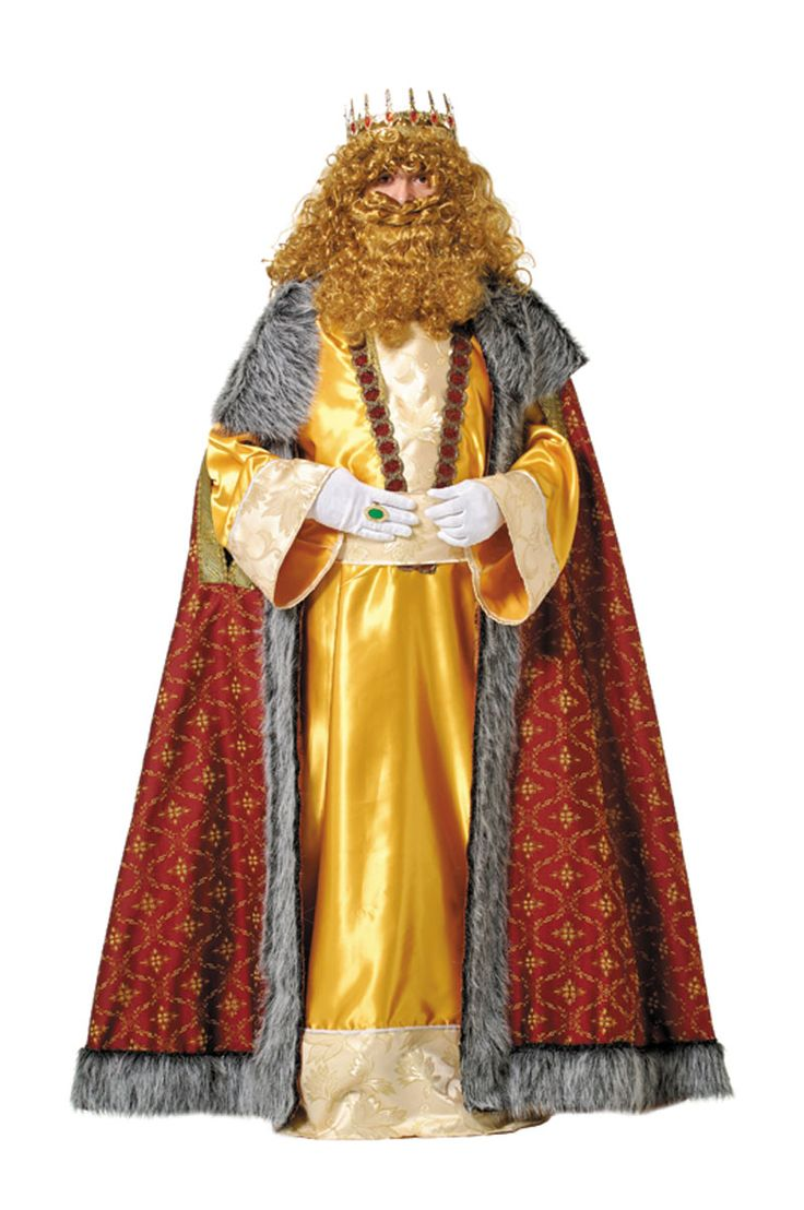 Traje De Rey Mago Gaspar Reyes Magos Disfraces Navidad