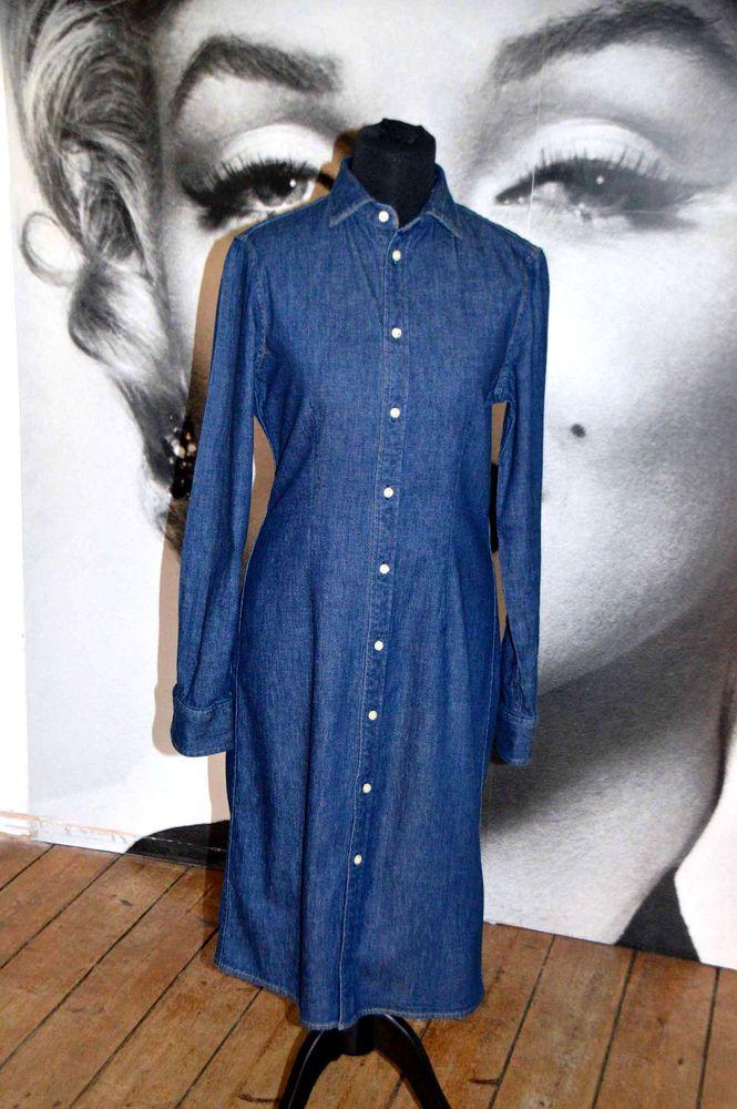 440b0c7e5a  DenimDress New with tag Ralph Lauren shirt dress denim midi western dark  wash jean - Denim Dress  50.07 End Date  Thursday Nov-29-2018 8 33 52 PST  Buy It ...