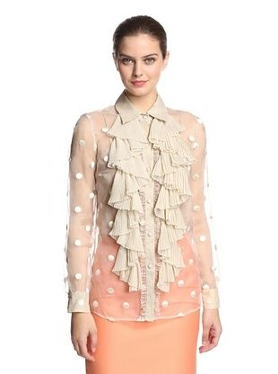 56% OFF RED Valentino Women's Blouse (Khaki)