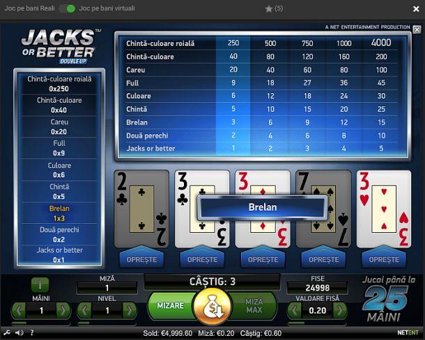 Articole Cazino online pe PariuriX.com: La care casino online putem juca video poker ca la aparate?