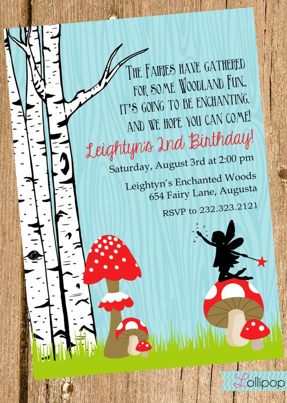 Woodland Fairy Printable Invitation, Personalized Woodland Enchanted Forest Birthday Invite, Birthday, Fairy, Baby Shower