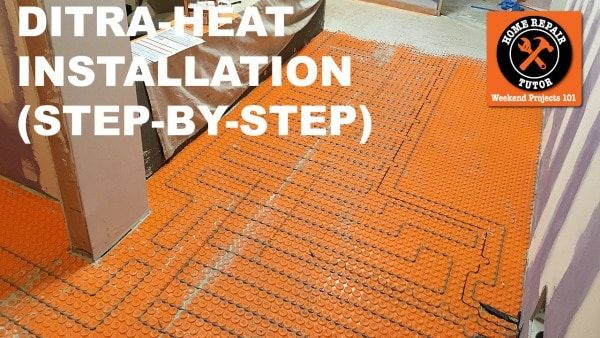 Ditra Heat Heated Flooring Systems Are A Great Way To Warm Up Tile Floors And Prevent Tiles From Cracking Over Tim Heated Floors Flooring Heated Bathroom Floor