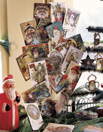 Victorian Christmas Decorations - Vintage Santa Claus Collection - Country Living