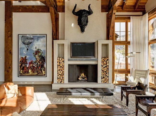 Wir Zeigen Ihnen 50 Ideen Wie Sie Brennholz Lagern Und Stapeln Konnen So Gestalten Ein Gemutliches Wohnzimmer Oder Einen Stilvollen Garten