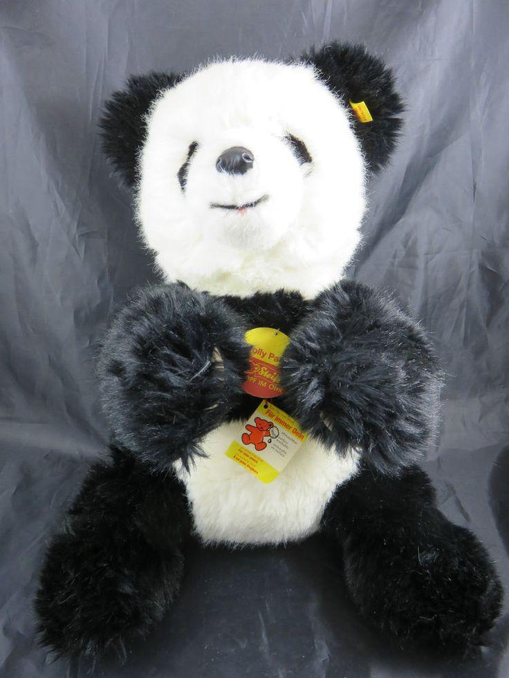Schöne Steiff Molly Panda mit Knopf im Ohr Fahne Panda with button in ear flag