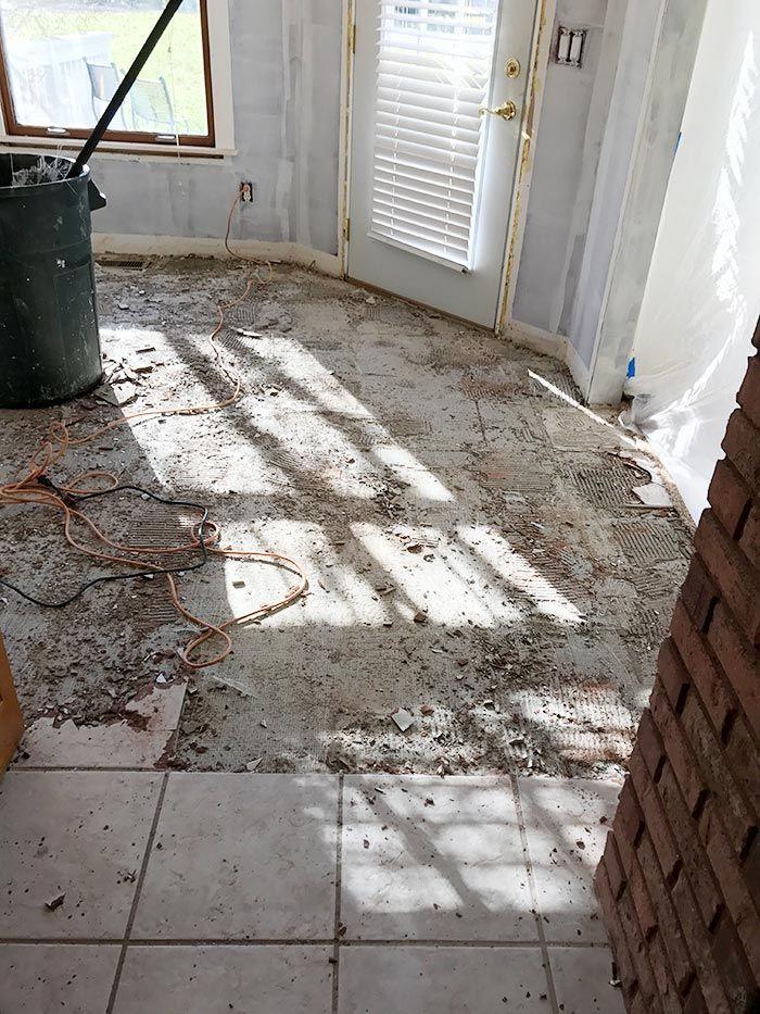 How To Remove Tile Floors Tile Removal Tiles Diy Tile