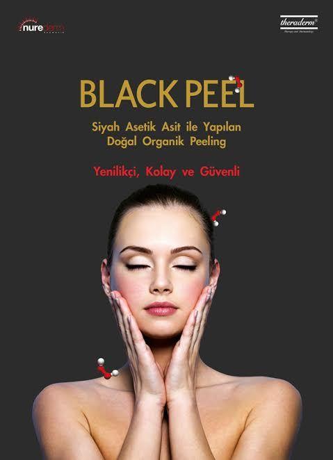 Black Peel sirkeden elde edilen asetik asit içeren doğal ve organik bir peelingtir. Akne ve sivilcelerden kurtulurken cildiniz daha genç ve parlak bir görünüm kazansın ! #akne #sivilce #woman #men #skincare