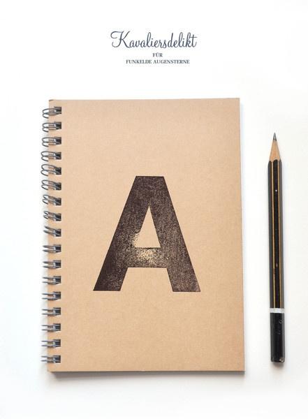 Notizbuch mit hangestempeltem Cover von kavaliersdelikt