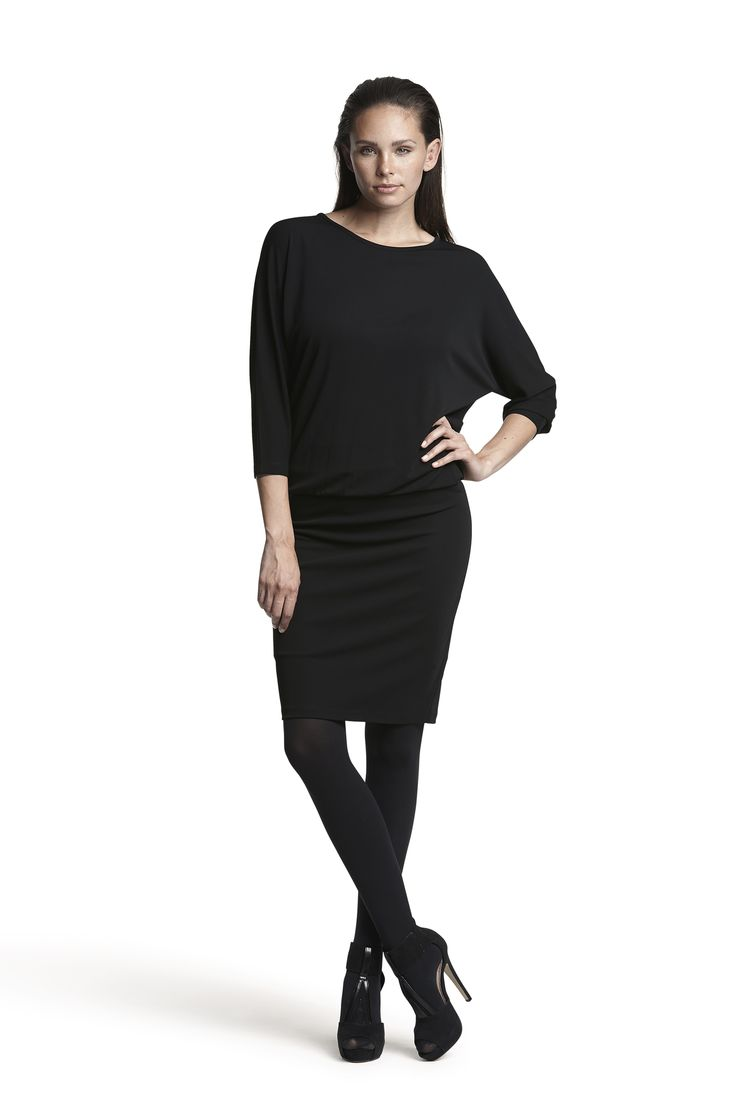 Gatsby jersey dress and Gipsy pantyhose #black #fashion #detail #party #beautiful #AW15