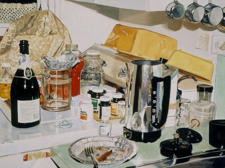 Grandma's Kitchen #Originalart #oilpainting #1950'sKitchen #kitchenart #stilllife #photorealism