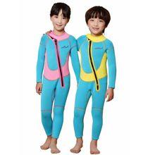 Kids boys girls full body diving suit /children anti-uv 2.5MM Neoprene One-Piece swimming wetsuit/baby warm snorkeling clothing