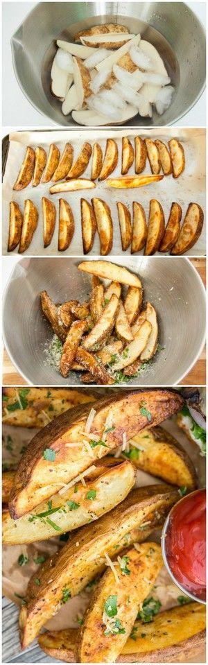 Oven Baked Potato Wedges | Bake a Bite