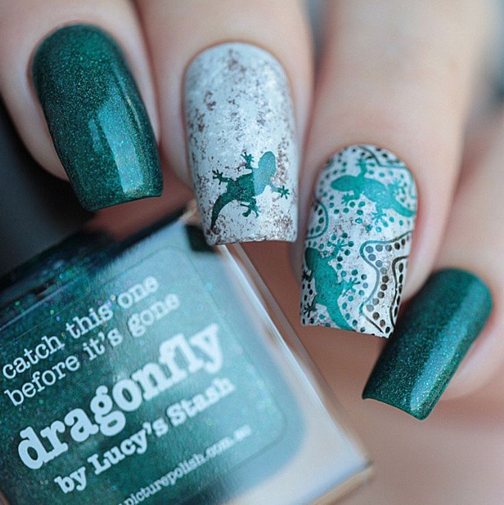 piCture pOlish 'Dragonfly' nails by Anya Sobko!  www.picturepolish.com.au