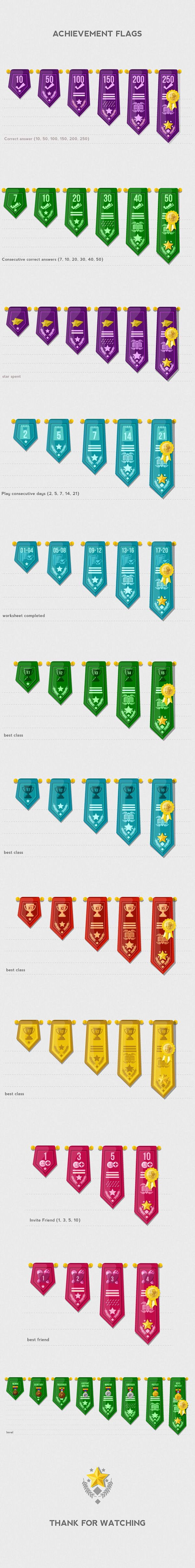 Achievement Badges & Flags 2D Illustrations on Behance