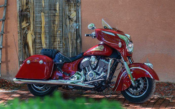 Lataa kuva Indian Chieftain Klassinen, 4k, 2018 polkupyörää, amerikkalainen moottoripyörien, superbike, USA