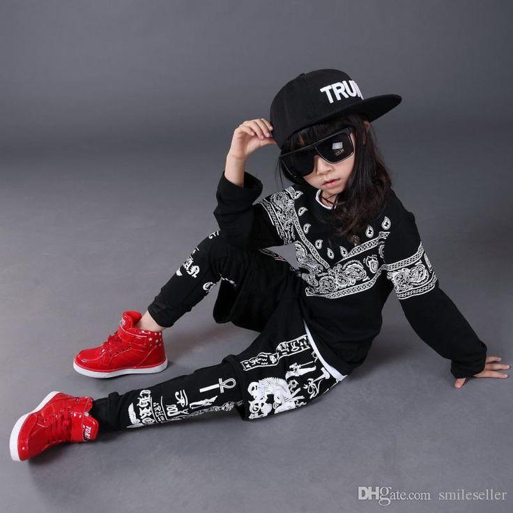 Sıcak Satış Hip-Hop Jazz Dans Elbise Çocuk Erkekler Kızlar Giyim Çocuk Sahne performence kılık kıyafetleri UA0121 smileseller