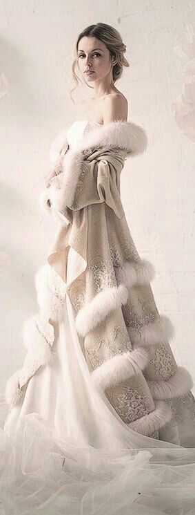 Winter wedding dress ~ Fantasy land lol