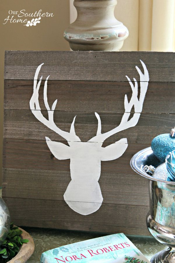 Rustic deer art tutorial by Our Southern Home #CelebrationsOfHome @oursouthernhome