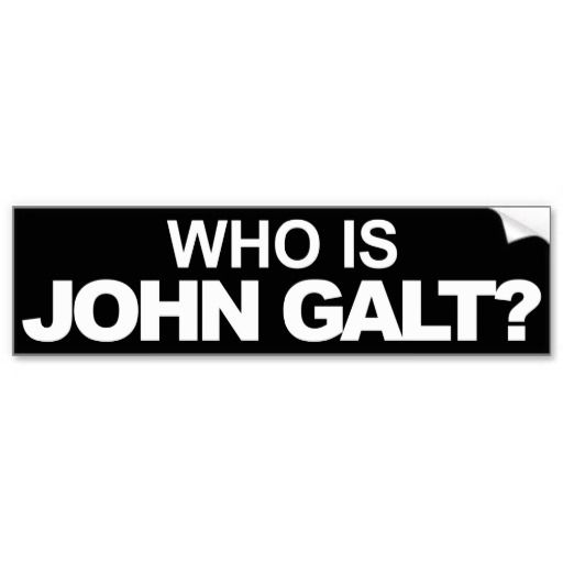 Who is john galt ayn rand bumper stickers
