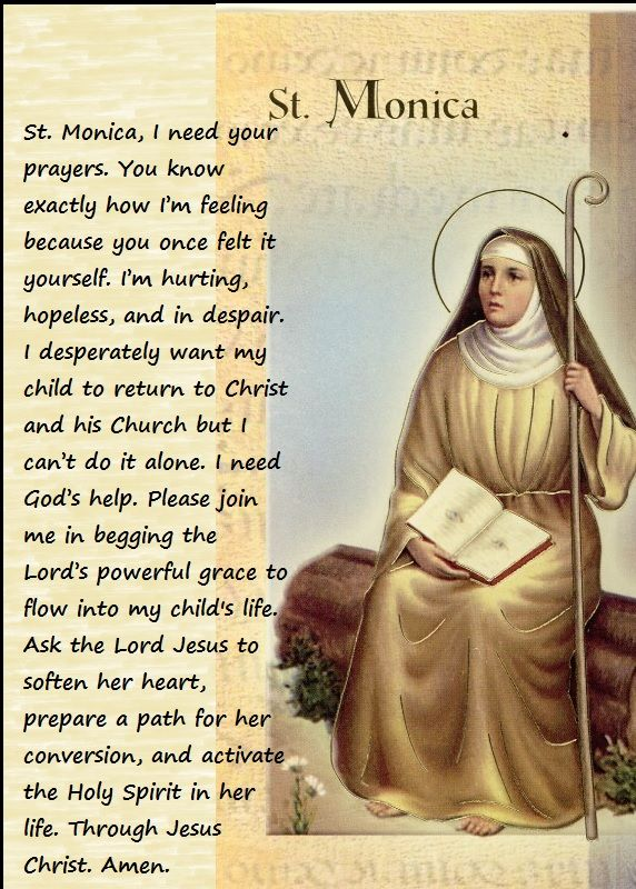 A Parent's Prayer to St. Monica