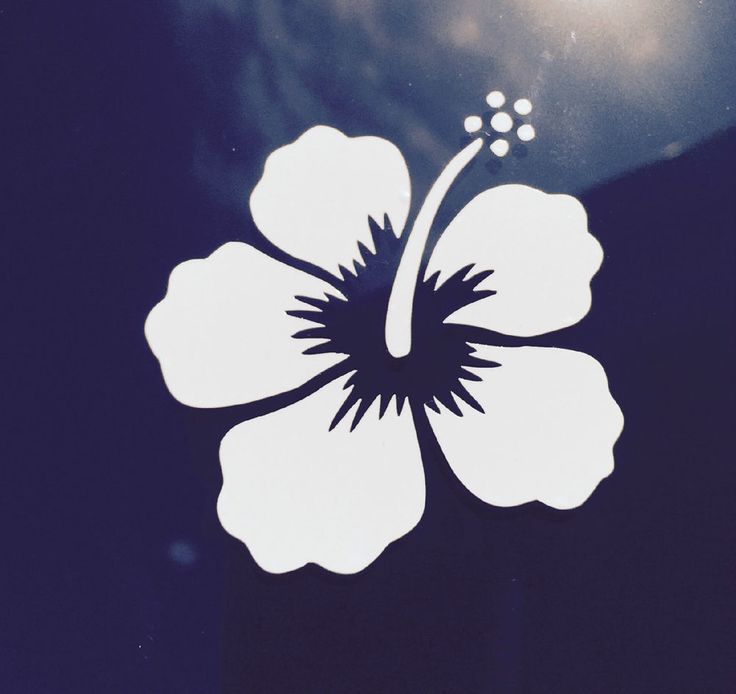 Hawaii Hawaiian Islands hibiscus flower #1 vinyl window decal car bumper sticker #PipelineSunsetWaimeaBayAlaMoanacellphone #HonoluluPearlHarborNorthShoreSouthShore