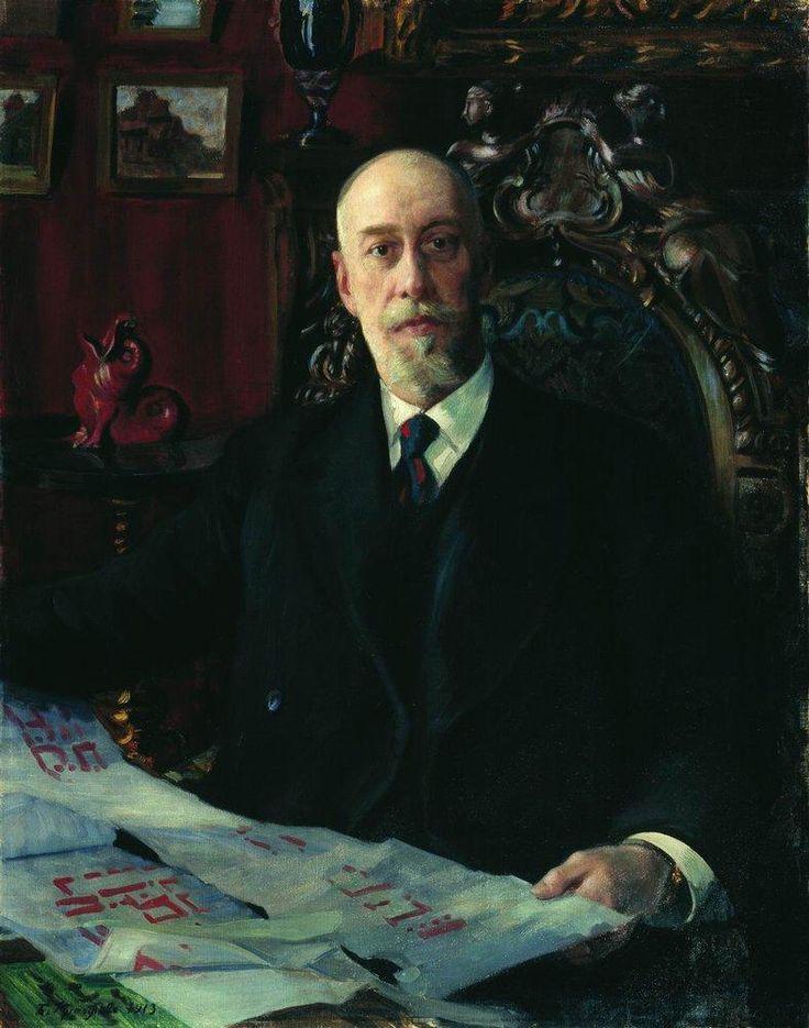 Кустодиев Б.М. Барон Николай Карлович фон Мекк 1913 г.