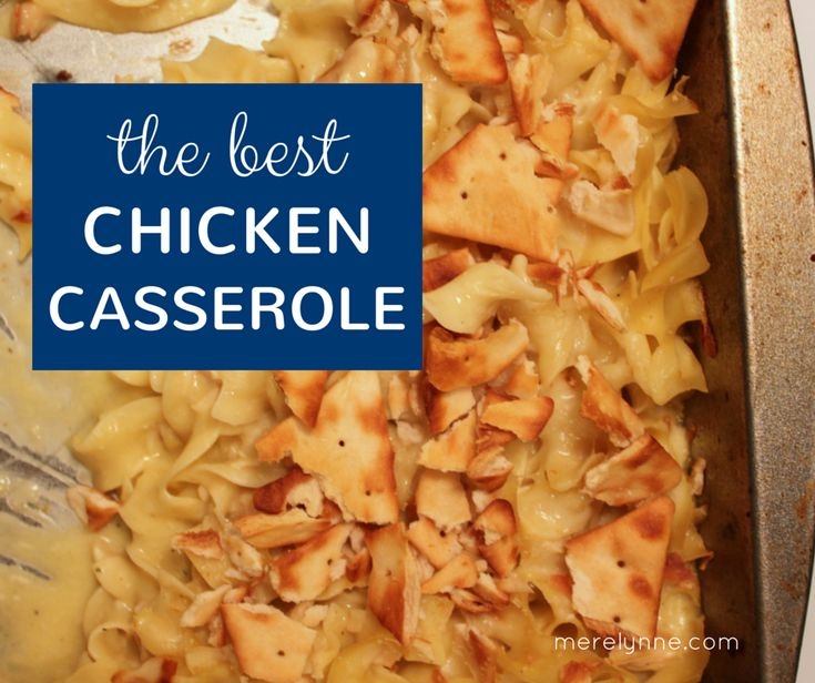 Here's an easy chicken casserole recipe that will have you're whole family begging for me.