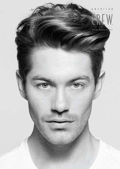 long straight hairstyles side part men - Google Search