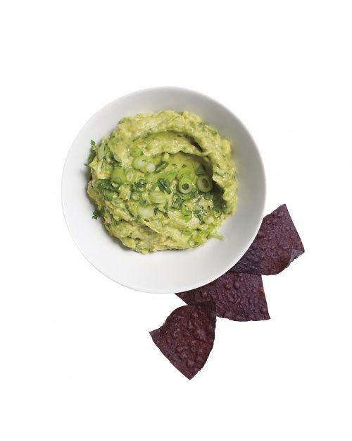 Mashed Avocado with Hummus, Wholeliving.com: Mashed Avocado, Food, Avocado Hummus, Recipes, Guacamole, Appetizer, Hummus Recipe, Dips