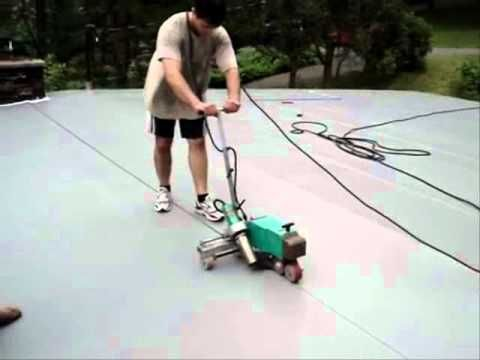 Flat Roof Installation Hot Air Welding IB PVC Roofing Membrane