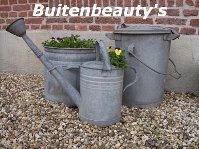 Landelijke accessoires voor tuin en balkon. Zo mooi dat oude zink!