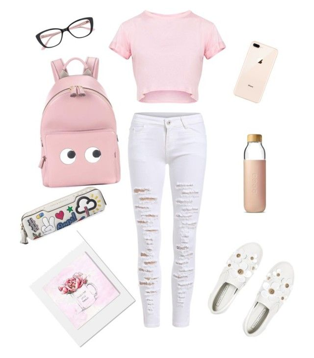 """""""back to school 2"""" by erica-cristine ❤ liked on Polyvore featuring Marc Jacobs, Anya Hindmarch, Soma and Oliver Gal Artist Co."""