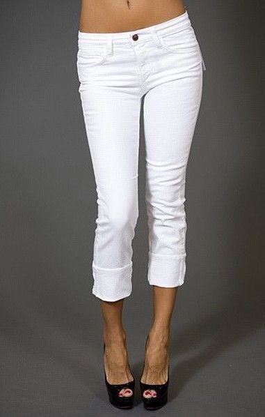 White Cuffed Jeans - MX Jeans