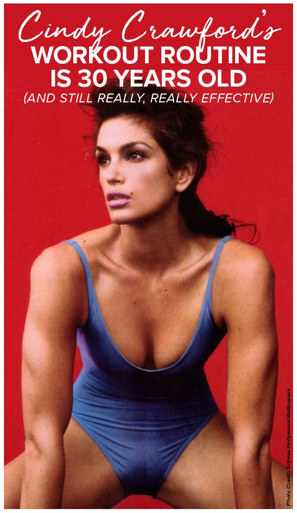 We're often told to vary ourworkoutroutines to avoidplateauing, and while that is true, supermodelCindy Crawfordhas found the perfect way to vary a basic routine she loves so much that she's been doing it for 30 years! Popculture.com #cindycrawford #agingbeauty #healthyliving #workout #celebrityworkout #supermodelworkout #supermodel