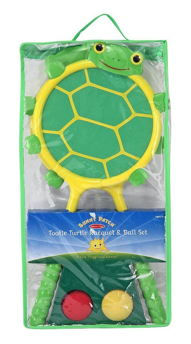 Melissa & Doug - Sunny Patch Tootle Turtle Racquet and Ball Bouncing Game Set