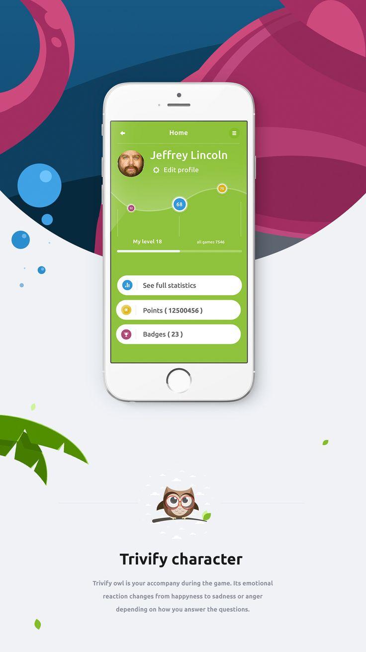 Trivify mobile app on Behance