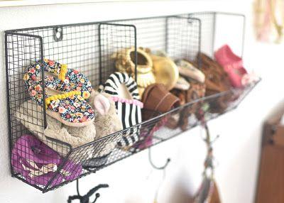 Baby girl nursery.  Shoe storage.  Hello Baby Brown: Phayre's Nursery Tour