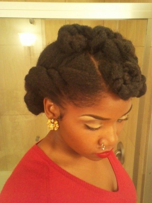 Natural pin up style  Visit: www.blackhairauthority.com for more on black hair care!