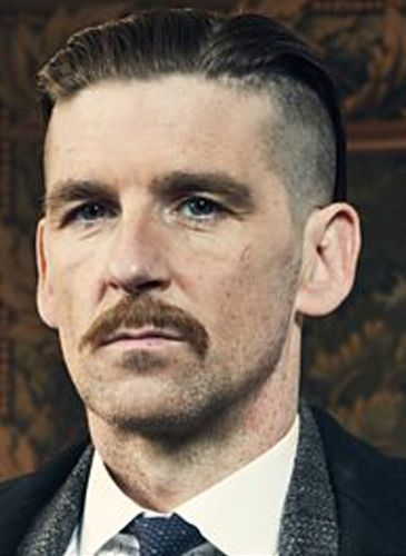 Arthur Shelby Paul Anderson Peaker Blinders Hairstyle Moustache Beard Haircut Tutorial