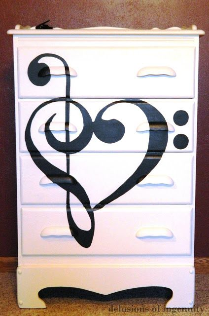 Music themed dresser
