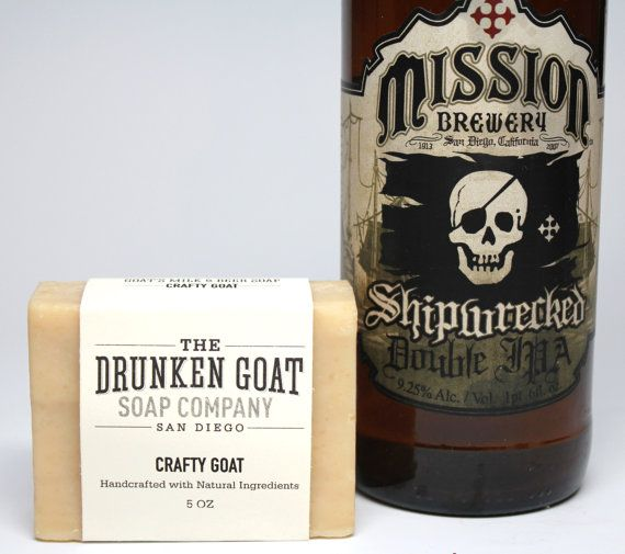 Craft Beer Soap: Unscented Beer and Goat's Milk by TheDrunkenGoat
