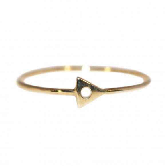 This mini triangle ring. | 65 Impossibly Beautiful Alternative Engagement Rings You'll Want To Say Yes To