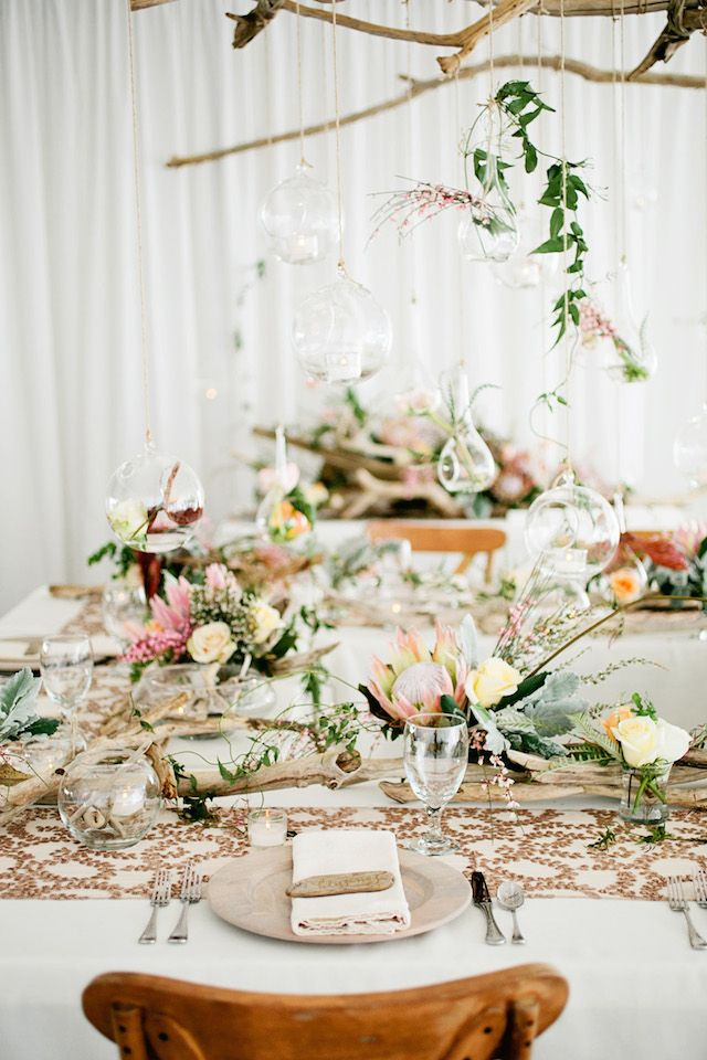 Driftwood wedding reception | Kristyn Hogan Photography | see more on: http://burnettsboards.com/2014/09/rustic-refined-driftwood-wedding-inspiration/