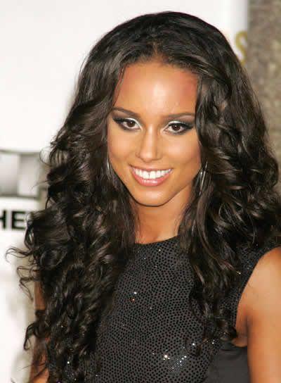 alicia keys prom picture | siyah kıvırcık uzun saçlı bayanlar için saç kesim çeşitleri